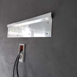 TV Wandhalter flach Aluminium Z-Profil