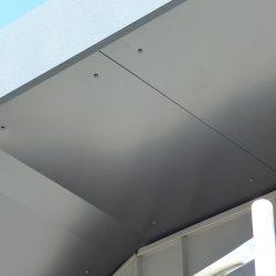 Dachuntersicht Alu-Verbundplatte anthrazit