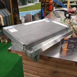 Dachmodell Kastenrinne mit Einlaufblech & EPDM Dachbahn