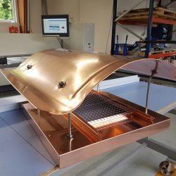Kaminschutz Kaminabdeckung Kupfer Napoleonhut mit Dohlenschutz