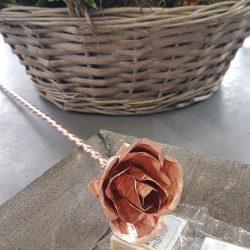 Hochzeit Deko Rose kupfer