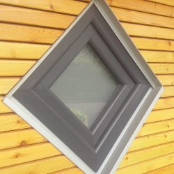 Fensterbank & Fensterlaibung in Einbindung mit Rhombusleisten