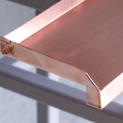 KANTmänner Kupfer Fensterbank mit Quetschfalz
